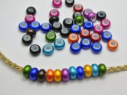 Wholesale 100 Color Acrylic Rondelle Spacer Beads With Large mm Hole