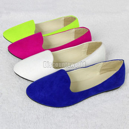 Wholesale Hot Sales New Ladies Womens Faux Suede Flat Ballet Ballerina Slip Pump Dolly Shoes Pumps Ex46