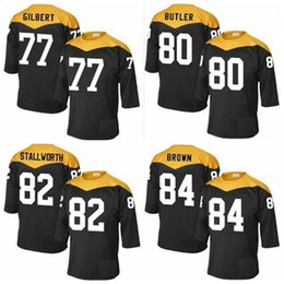 Wholesale Factory Outlet Men Marcus Gilbert Jack Butler John Stallworth Antonio Brown Jerseys stitched Football Jerseys Embroidery Size M