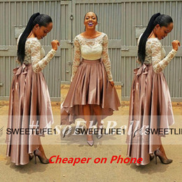 Real Image Pretty Lace and Elastic Satin Fall Spring Party Prom Dresses 2019 New Design African Nigerian Turkish Long Sleeves Pageant Gowns