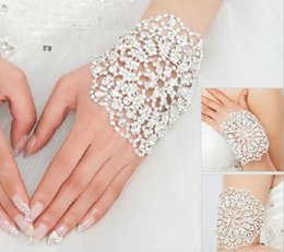 Wholesale Crystal Arm Accessories - Wedding Bracelets Fashion Luxury Art Bracelet For Women Bridal Bracelet Arm Chain Bride Jewelry Wedding Dress Accessories
