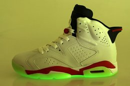 Wholesale Cheap prices men basketball shoes discount AIRJ6s sports shoes famous athletics brand online store glow in dark size