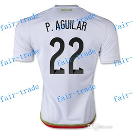 Wholesale Mexico Team P AGUILAR Away Soccer Jersey Football Shirts Tops Cheap Mexico Jersey Discount Shop fair trade Customized Jersey