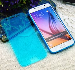 Wholesale HOT CASE S6 Ultra Slim Thin TPU Transparent Clamshell Cellphone Case For Samsung Galaxy S6 NOTE5 Crystal Case Protective Shell Flip Capa