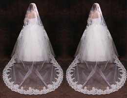Wholesale High atmospheric veil new lace big lace bridal veil meters veil superior quality HY00173
