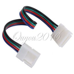 wholesale 5pcs 4Pin 10MM Female DIY PVC RGB LED PCB Strip Connector Adapter For 5050 RGB LED Lights WS2801 LPD8806 RGB LED Strip