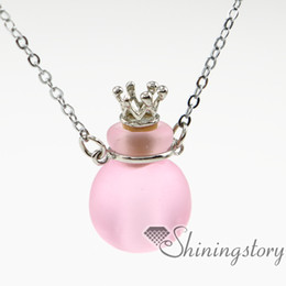 ball aromatherapy necklace diffuser pendant diffuser diffuser necklace wholesale essential oil pendant diffuser glass vial pendant necklace