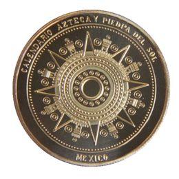 Wholesale 24k Gold Coin New Mexico Mayan Calendar Aztec Soviet Russia Souvenir Coin Antique Yucatan Metal Alloy Coins Crafts