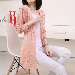 Korean Style Women Sweater Cardigan Women Lace Wool Knitted Cardigans Long Sleeve Hollow Ladies Knitwear Female Coat YF9581