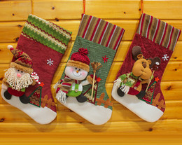 Wholesale High Quality European style big brother ski Christmas socks Creative gifts of candy socks Christmas stockings for Holiday hot sale