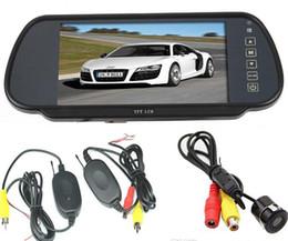 Wholesale car dvr quot TFT LCD Mirror Monitor Mini Wireless Sensor Reversing Parking Camera Degree Angle Car Rear View Kit Gps