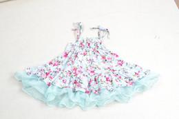 Wholesale 2015 spring summer baby girls kids vintage flower tutu dress floral dresses pettiskirt tulle skirt lace ballet dress princess