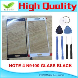 Wholesale 1pcs OEM Front Glass For Samsung Galaxy Note N9100 Glass Outer Lens Only One set Free Tool black Color