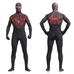 Mens Full Included Lycar Spandex Zentai Spiderman Kigurumi For Halloween Carnival and Any Festival Drop Shipping Accepted