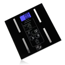 Wholesale 2015 Hot Sale Rushed Body Fat Caliper Multifunctiona Weight fat water muscle bone calories Electronic Scales Weighing Scale Health