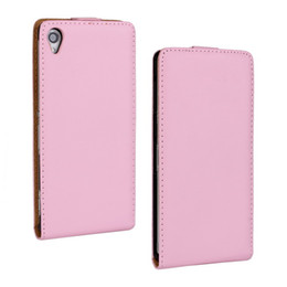 For Sony Xperia Z3 Texture Real Flip Leather Case Cover