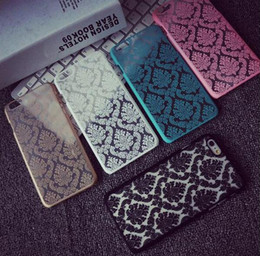 Wholesale Luxury Vintage Flower Pattern Hard Plastic Phone Cover Case Skin For iPhone S Plus SE S Samsung S7 S6 Edge S5 Free Ship MOQ