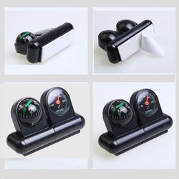 Wholesale Adhesive Base Black Car Automobile Stand Compass Ball Thermometer Multifunctional Thermometer in CP IN1