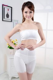 Wholesale New Lingerie women s Sexy underwear white vest silk screen lace tube tops with adjust brassiere pad