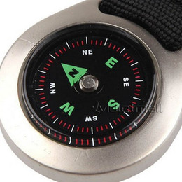 Wholesale Outdoor Compasses Keychain Style Round Liquid Navigation Compass with Metal Casing NO Ideal for Camping Hiking Best Quality