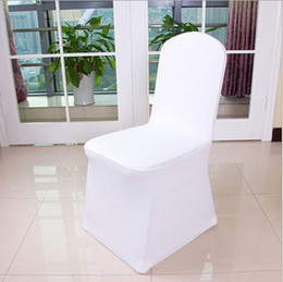 Wholesale Universal White Polyester Spandex Wedding Chair Covers for Weddings Banquet Folding Hotel Decoration Decor