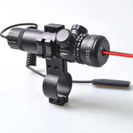 RED laser sight dot scope hunting rifle & rail mount & box set w 2 switches