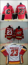 Calgary #23 sean monahan Cheap Hockey Jerseys ICE Winter mens women kids Stitched Jersey Free shipping