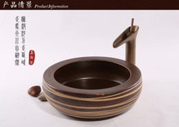 Wholesale Beauty TaoWan authentic stage basin sink basin is the basin that wash a face ceramic basin basin of continental antique wood art