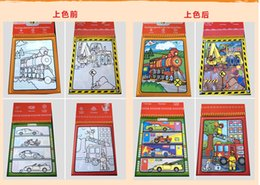 learning toy Best Selling ! Animals, Alphabet and Numbers Paint Kit Baby Eductaional Magic Pen Water Drawing Board
