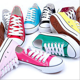 sneakers brand New Drop Shipping size35-45 New Unisex Low-Top & High-Top Adult Women's Men's Canvas Shoes 13 colors Laced Up Casual Shoes