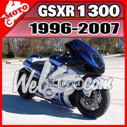 Wholesale Silver Blue Gsxr Fairings - Welmotocom Injection Mold Fairing For Suzuki Hayabusa GSXR1300 GSX-R 1300 GSXR 1300 1996-2007 96-07 Silver Black Blue S36W688+5 Free Gifts