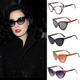 Wholesale-2015 Sexy Mirror Sunglasses Women's Vintage Cat Eye Designer Sunglass Outdoor Retro Sunglasses UV400 Fox Sun Glasses For Women