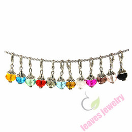 Wholesale new fashion trendy pendant sex mm Crystal Dangle Charms Great for charm bracelets floating memory lockets oval link chain