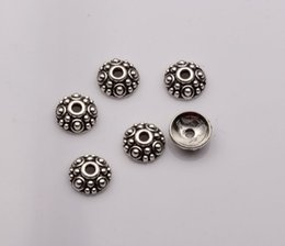Hot ! 200pcs Antique silver Dotted Round Bead Caps 8mmx8mmx3mm (mm21)