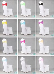 Wholesale Fashion Hot Spandex Ivory Chair Bands With Diamond Buckle Chair Cover Sash Chair Band In Chair Cover For Wedding Events Decoration