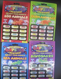Wholesale set Novelty Gadget Multicolor Amazing Capsule Creatures Set Fake Animal Toy Trick Joke Tool