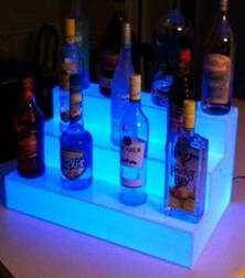 Wholesale Slong Light Colorful Tiered LED Light Liquor Shelf Displays Remote control Waterproof Lighted up Bars Wine beer bottle displays holders