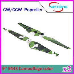 Wholesale 2pcs Pairs DJI Phantom CW CCW quot Self Tightening Camouflage Color Propeller for DJI Phantom Vision FC40 Qudcopter ZY DJI