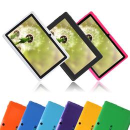 Dhl de la tableta de 8 gb en Línea-DHL envío! iRULU Q88 7 pulgadas 4.4 Android Tablet PC Dual Core 1024 * 600 Allwinner A33 capacitiva mediados 512MB 8GB 1.2GHz WIFI