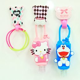 Wholesale Colorful Silicone Bath Body Works Cartoon Crafts Antibacterial Hand Sanitizer Holder Portable Bath Gel cute Holder gel antibacterial hand