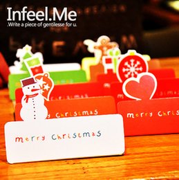 Wholesale-[Infeel.Me] snowy Christmas Christmas card   card suit Comments   folding card 10^greeting card