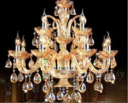 Modern E14 12L LED lamps Factory Wholesale modern Honey crystal chandelier crystal chandelier AC 100% Guaranteed Free Shipping