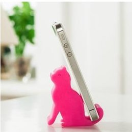 Wholesale Animal mobile phone holder phone holder kitten plastic molding iPad stand
