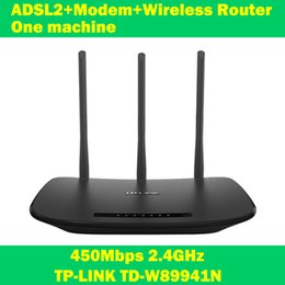 Wholesale NEW TP LINK TD W89941N Mbps ADSL modem wifi extender wireless router one machine antenna for home computer networking IPTV