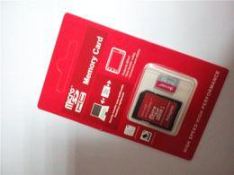 Wholesale 2015 China GB Micro SD Tarjeta SDHC SDXC USH Class10 para el smartphone de la PC de la tableta para la Navidad Víspera de Todos los Santos con el paquete al por menor del color rojo
