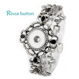 Wholesale Hot Snap Bracelet Bangles Newest Design Chain Antique Silver Plated Vintage noosa chunks Bracelet FIt Snaps Button Jewelry