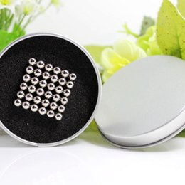 Wholesale-216pcs 5mm neodymium magnetic balls magic cube magnets puzzle Nickel color- with metal box