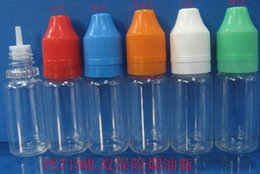 10ml childproof & tamper proof cap dropper bottle with long tip E cig oil bottle liquid dispense bottle E cig bottle empty PET bottle