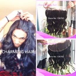 8A Virgin Brazilian Lace Frontal 13x4 Bleached Knots Virgin Frontal Closure Body Wave Full Lace Frontal With Baby Hair