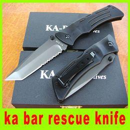 201411 new ka bar rescue knife 440 blade EDC Tactical knife folding blade Aluminum alloy handle knives best christma gift 571L